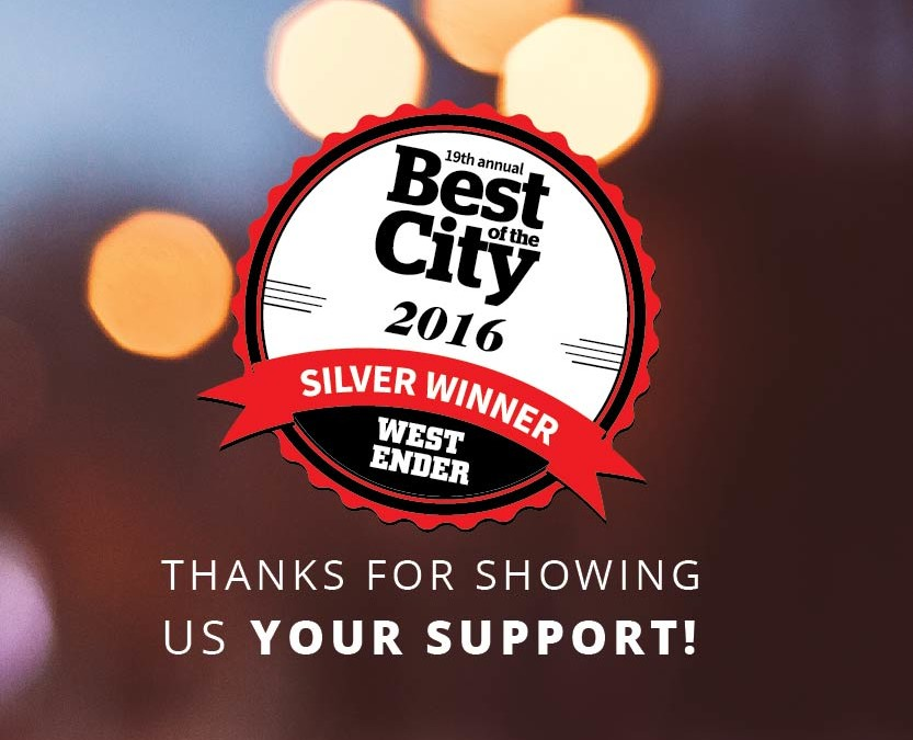 Thanks Van City for voting us Best of the City